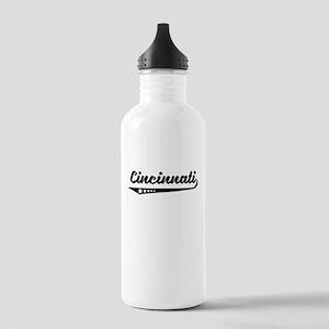 Cincinnati OH Retro Logo Water Bottle