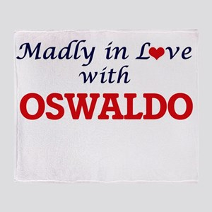 Madly in love with Oswaldo Throw Blanket