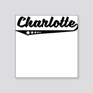Charlotte NC Retro Logo Sticker