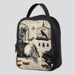 Modern Vintage Halloween Garden Neoprene Lunch Bag