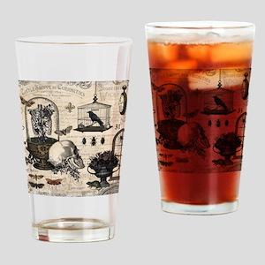 Modern Vintage Halloween Garden Drinking Glass
