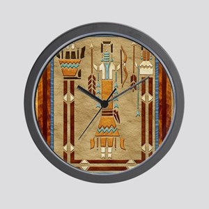 Harvest Moons Navajo Sand Painting Wall Clock