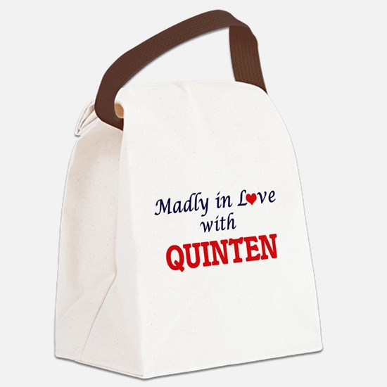 Madly in love with Quinten Canvas Lunch Bag