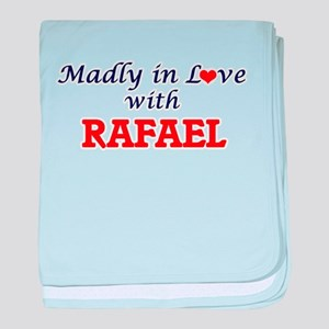Madly in love with Rafael baby blanket