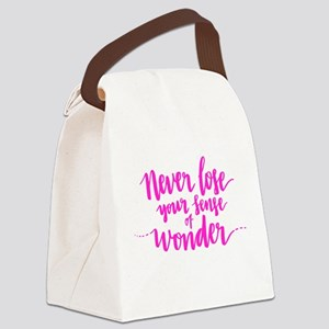 NEVER LOSE YOUR SENSE OF WONDER Canvas Lunch Bag