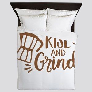 RISE AND GRIND Queen Duvet
