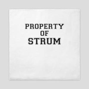 Property of STRUM Queen Duvet