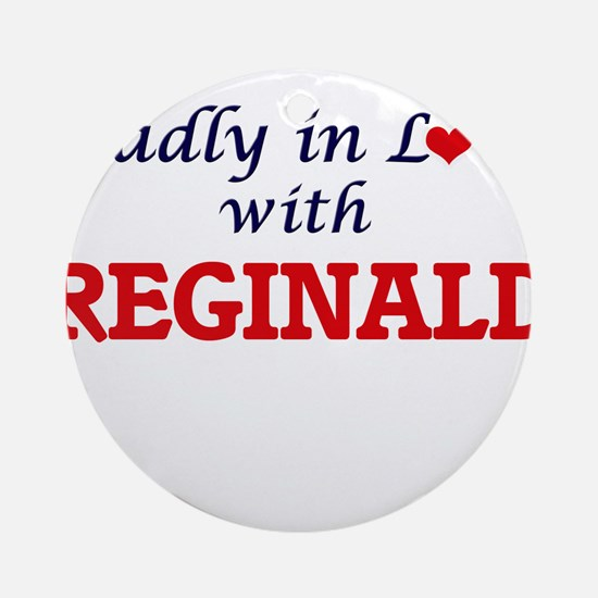 Madly in love with Reginald Round Ornament