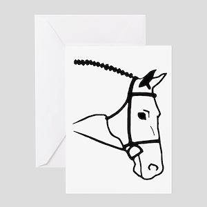 Horse Head Greeting Card