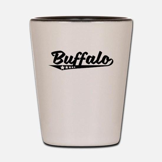 Buffalo NY Retro Logo Shot Glass
