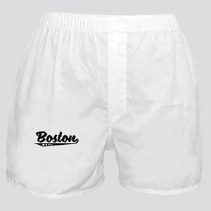 Boston MA Retro Logo Boxer Shorts