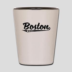 Boston MA Retro Logo Shot Glass