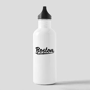 Boston MA Retro Logo Water Bottle