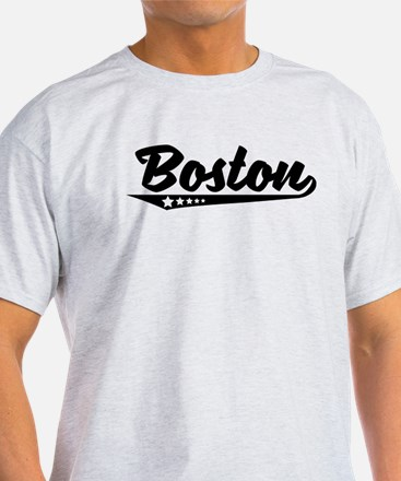 Boston MA Retro Logo T-Shirt