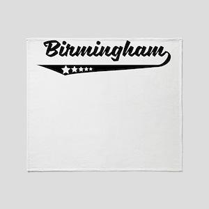 Birmingham AL Retro Logo Throw Blanket