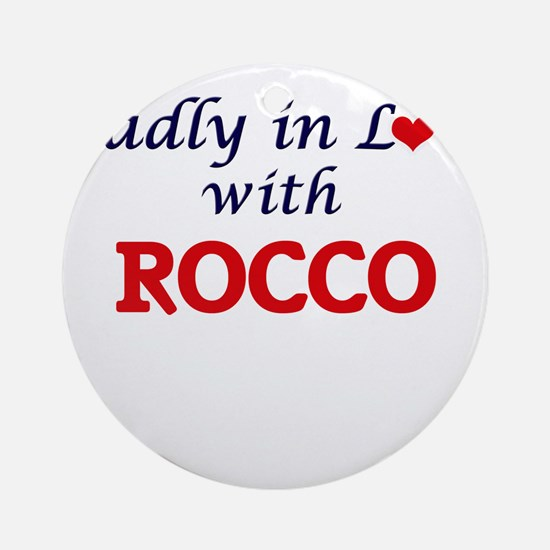 Madly in love with Rocco Round Ornament