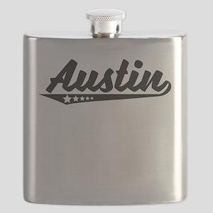 Austin TX Retro Logo Flask