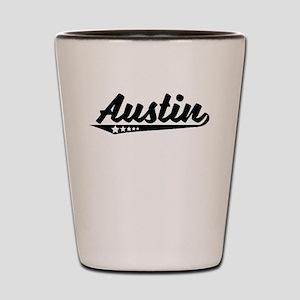Austin TX Retro Logo Shot Glass
