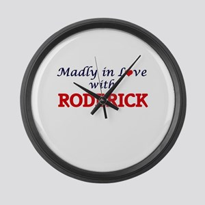 Madly in love with Roderick Large Wall Clock