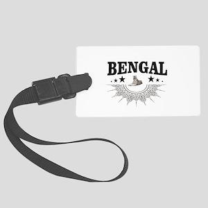 Bengal tiger art Large Luggage Tag