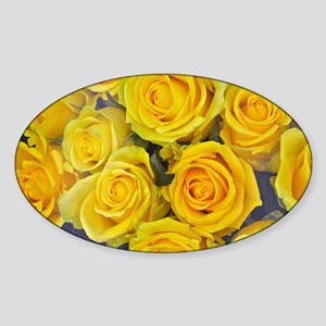 Beautiful yellow roses Sticker