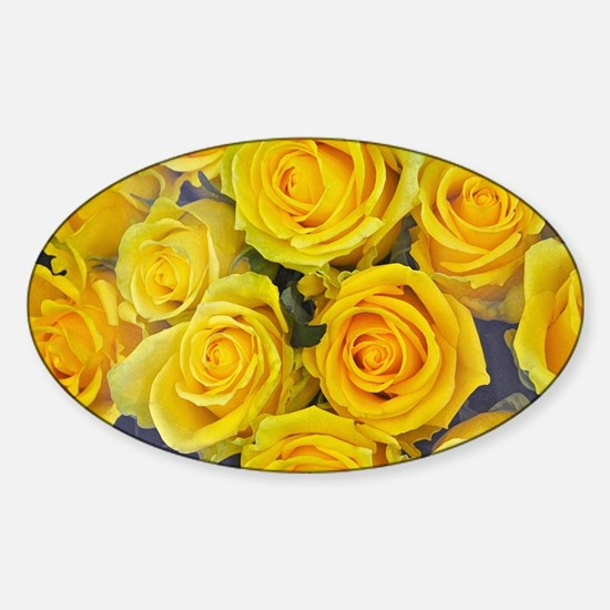 Beautiful yellow roses Decal