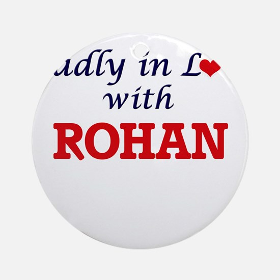 Madly in love with Rohan Round Ornament