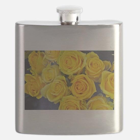 Beautiful yellow roses Flask