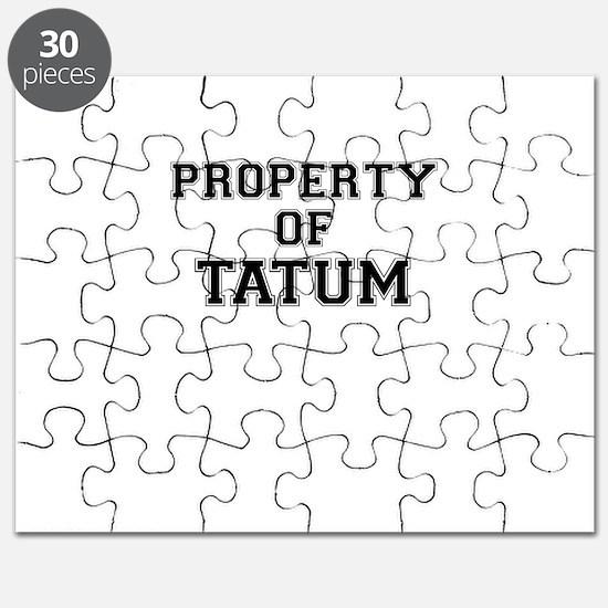 Property of TATUM Puzzle