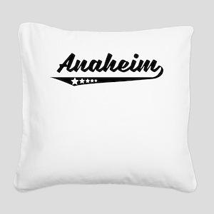 Anaheim CA Retro Logo Square Canvas Pillow