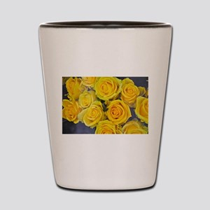 Beautiful yellow roses Shot Glass
