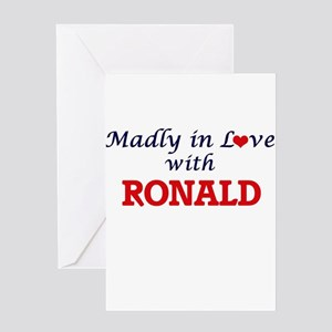 Madly in love with Ronald Greeting Cards