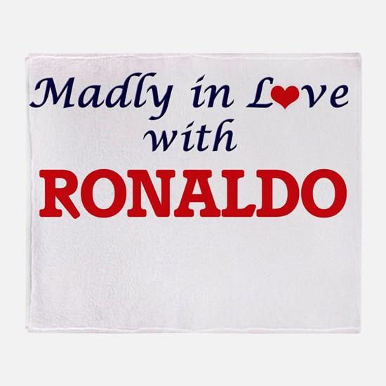 Madly in love with Ronaldo Throw Blanket
