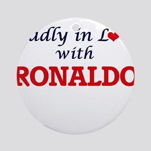 Madly in love with Ronaldo Round Ornament
