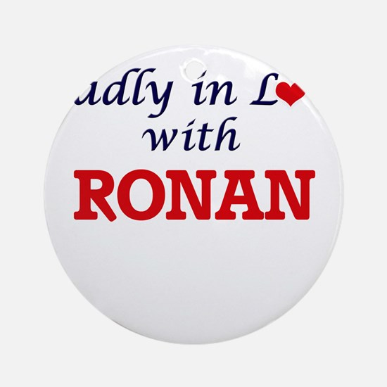 Madly in love with Ronan Round Ornament