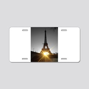 Eiffel tower gold Paris Aluminum License Plate
