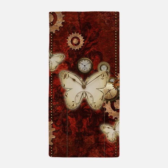 Steampunk, wonderful butterflies with clocks and g