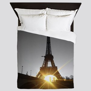 Eiffel tower gold Paris Queen Duvet