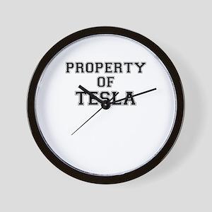 Property of TESLA Wall Clock