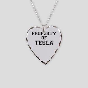 Property of TESLA Necklace Heart Charm