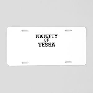 Property of TESSA Aluminum License Plate