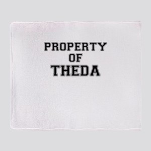 Property of THEDA Throw Blanket