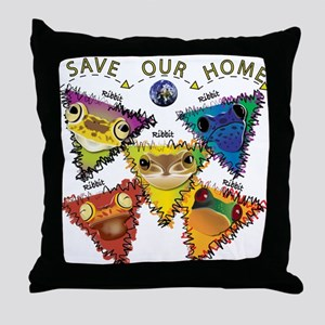 Save Our Home: Five Frogs Throw Pillow