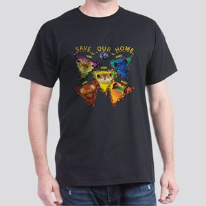 Save Our Home: Five Frogs Dark T-Shirt