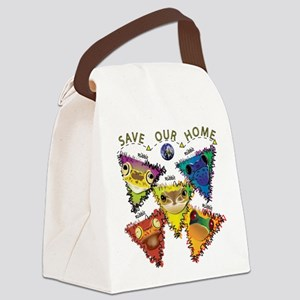 Save Our Home: Five Frogs Canvas Lunch Bag