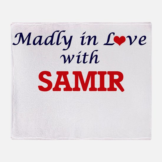 Madly in love with Samir Throw Blanket