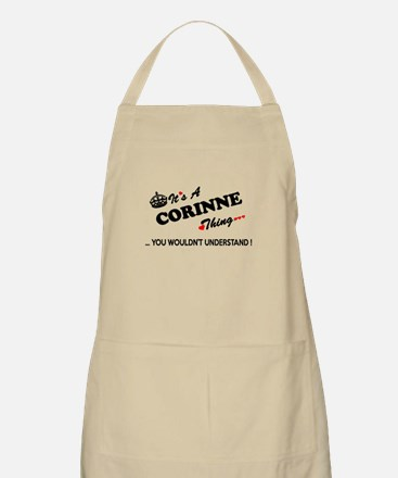 CORINNE thing, you wouldn't understand Apron