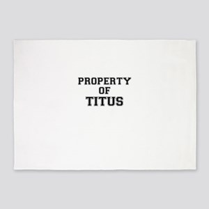 Property of TITUS 5'x7'Area Rug