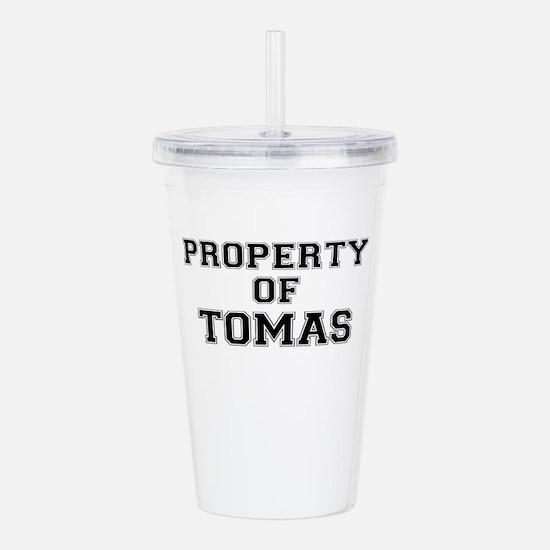 Property of TOMAS Acrylic Double-wall Tumbler