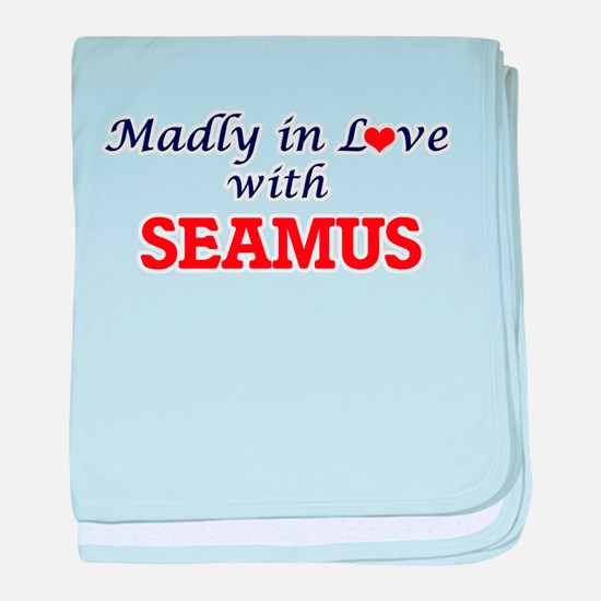 Madly in love with Seamus baby blanket